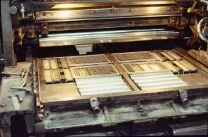 Calage des gallées sur machine